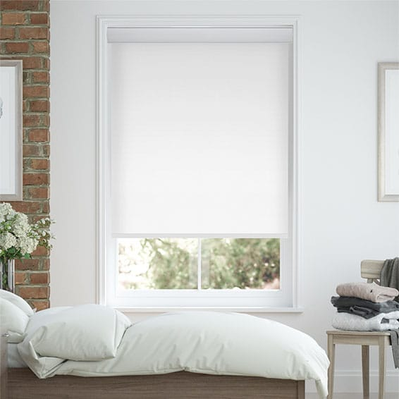 Eclipse Cassette Brilliant White Roller Blind