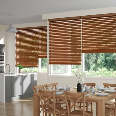Metropolitan Warm Oak Wooden Blind